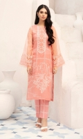 - Digital Printed Super Fine Lawn Shirt: 3 Mtr  - Printed Cambric Trouser: 2.5 Mtr               -Embroidered Neckline + Border (Patch)
