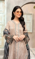 - Printed Super Fine Lawn Shirt: 3.5 Mtr  - Printed Voil Dupatta: 2.5 Mtr                       -Embroidered border (Patch)