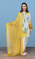 -Digital Printed Super Fine Lawn Shirt: 3 Mtr  -Digital Printed Voli Dupatta: 2.5 Mtr  -Dyed Cambric Trouser: 2.5 Mtr