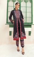 -Printed Super Fine Lawn Shirt: 2Mtr  -Printed Cambric Trouser: 2 Mtr  -Embroidered Front