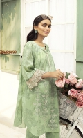 -Printed Super Fine Lawn: 2 Mtr  - Printed Cambric Trouser: 2 Mtr  -Embroidered front + Border (Patch)