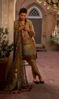Jacquard Front Embroidered Shirt Silk Embroidered Sleeve & Shirt hem border Patch Trouser Raw Silk Trouser Digital Printed Silk Dupatta Side Embroidered patti.