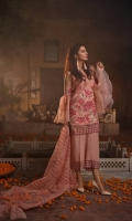 Masoori Front Embroidered Shirt Embroidered hem border & Sleeve Patch Trouser Patch Raw Silk Trouser Organza Embroidered Dupatta.