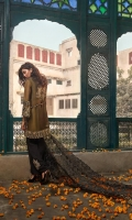 Zarri Net Front Embroidered Jacket Raw Silk Under Shirt,Trouser & sleeves Embroidered Patch Trouser Front & Back Border Back Motif Patch Side Embroidered Patti Organza Embroidered Dupatta.