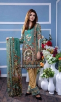 3 pcs unstitched digital printed & embroidered Cambric and Silk with pure Chiffon dupatta
