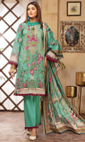 unstitch embroidered lawn suit