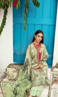 1.35 meter printed front with embroidery 1.35 meter printed back 0.85 meter printed bazu 2.5 meter printed shaffon duppatta 2.5 meter cotton trousers
