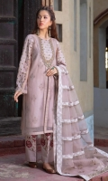 Embroidered Pret Organza Suit