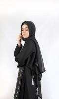 Minimalizing your wardrobes with this mono-toned black dupatta
