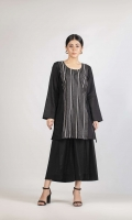 (Two Pc stitched: Shirt with cross stitched embroidery  + Trouser) Lawn Fabric