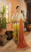Embroidered tonal dyed wide width premium lawn shirt front 0.75meter Screen Printed Tonally dyed premium lawn back 1meter Schiffli tonally dyed sleeves 0.6 meter Embroidered organza border for shirt Schiffli fabric border for shirt Block printed Chiffon contrast dupatta : 2.5meter Cambric lawn trouser: 2.5meter