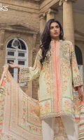 Peach Nector Unstitched 3 Piece Lawn Suit