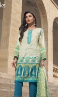 Cannel Bay Unstitched 3 Piece Lawn Suit