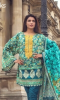 Blue Coral Unstitched 3 Piece Lawn Suit