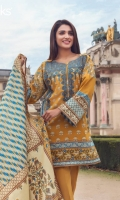 Golden Yellow Unstitched 3 Piece Lawn Suit