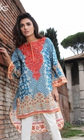 Carabean Sea Unstitched Kurti