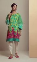 PRINTED PANEL KURTI WITH DAMAN EMBROIDERY