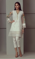 PASTE PRINTED KURTI WITH ORGANZA EMBROIDERED SLEEVES