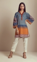 PRINTED PANEL KURTI WITH EMBROIDERY PATTI