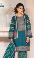 Printed Khadder Shirt With Embroidered Front Printed Khadder Dupatta Printed Khadder Shalwar
