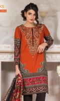 Printed Khadder Shirt With Embroidered Neck Printed Khadder Dupatta Dyed Khadder Shalwar