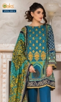 Printed Linen Shirt With Embroidered Front Printed Twill Dupatta Dyed Linen Shalwar