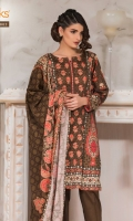 Printed Satin Shirt With Embroidered Front Printed Dobby Dupatta Cambric Dyed Shalwar