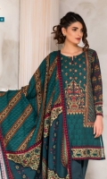 Printed Khadder Shirt With Embroidered Front Printed Khadder Dupatta Dyed Khadder Shalwar