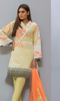 Lawn Printed Shirt  Lawn Printed Dupatta  Cambric Dyed Shalwar