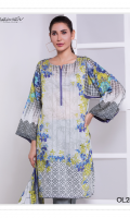 Fabric: Lawn Shirt. Lawn Dupatta Design: Printed