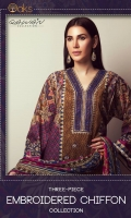 Fabric:Cambric Shirt. Cambric Shalwar. Chiffon Dupatta. Design: Embroidered