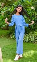 Blue Georgette Jumpsuit