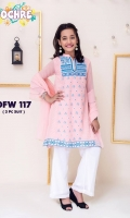 Fabric: Chiffon Top Fully Embroidered with Fancy Button, Chiffon Dupatta with Pearl Pico and Double Layered Chiffon Trouser