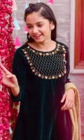 Emerald Green Velvet Top with Hand Adda Work, Emerald Green Banarasi Straight Pant & Gold Crush Dupatta