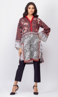 100% Cambric Ready To Wear Digital Kurti Straight shirt and straight full sleeves.