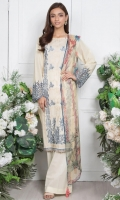- 2.5mtr Lawn Shirt with Extra Lawn Sleeves (Wider Width)  - 2.5mtr Digital Printed Chiffon Dupatta  -2mtr Textured Pants (Wider Width)  - Embroidered Shirt & Sleeves