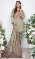 - 1.9mtr Lawn Digital Printed Shirt (Wider Width)  - 2.5mtr lawn Digital Printed Dupatta  -2mtr Textured Pants (Wider Width)  - Embroidered Neckline on Shirt