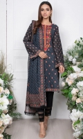 - 1.9mtr Lawn Digital Printed Shirt (Wider Width)  - 2.5mtr Digital Printed Dupatta  - 2mtr Textured Pants (Wider Width)  - Embroidered Shirt