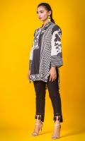 100% Jacquard ready to wear digital printed shirt High V-neck with detailing, highlow shirt with straight full sleeves