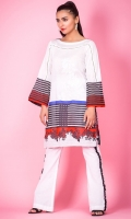 100% Jacquard ready to wear digital printed shirt Boat neckline, straight embroidered shirt with straight full sleeves
