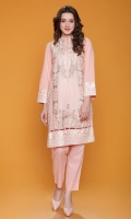 Fully Embroidered Shirt With Neck Line & Daman Fancy Buttons Net Dupatta Also Added