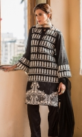 Ban Collar Fully Embroidered Poly Net Shirt With Trouser & Under Shirt