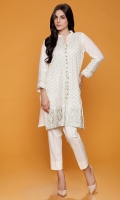Ban Collar Fully Tilla Embroidered Kurta With Tilla Embroidered Neck Line Buttons