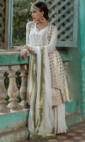 A Perfect Design For Eid Fully Embroidered Chiffon Upper And Beautifully Embroidered Inner Slip Along With Big Lace Border