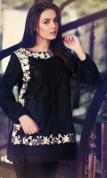 Round Neck Fully Embroidred Trendy Top With Crochet Lace Work And Sleeeve Tussels