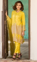 V Neck Fully Embroidered Poly Net Shirt With Neck Line Oop Buttons Under Shirt & Trouser Also Available With Shirt.
