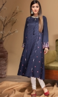 Stitched Linen Frock Boat Neck With Fabric Dori Embroidered Front Beautified With Stithing Art Embroidered Sleeves Plain Back