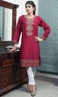 Embroidered Khaddar Stitched Kurti