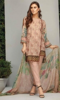 Embroidered Lawn Unstitched 3 Piece Suit
