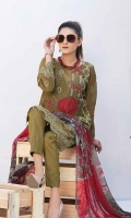embroidered lawn unstitched three piece suit